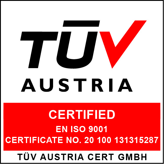 TUV CERTIFIED / ISO 9001